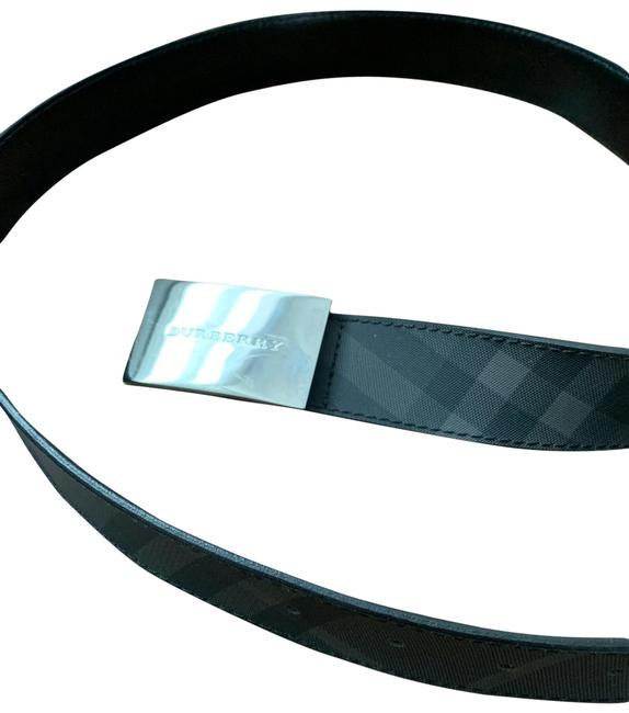 Item - Gray Canvas with Black Leather Back London Check Belt