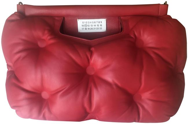 Item - Large Glam Slam Red Tufted Lambsckin Leather Clutch