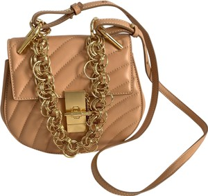 Chloe Beige Drew Bijou Mini Gold Hardware Cross Body Bag
