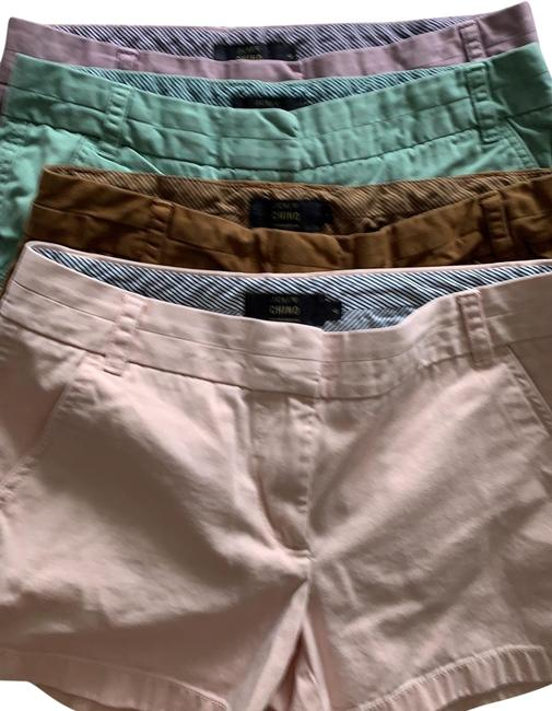 Item - Light Pink Brown Light Green Lavender Chino Pieces Shorts Size 6 (S, 28)