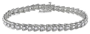 Sterling Silver Diamond Tennis Bracelet
