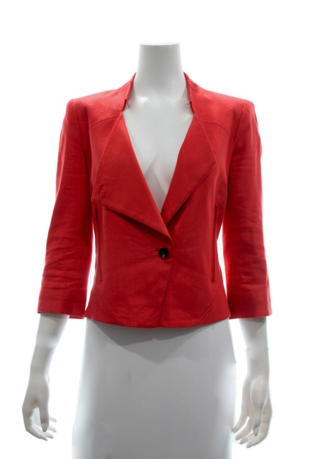 Item - Red Cotton Blazer Size 8 (M)