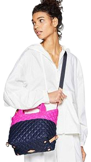 Item - Sutton Small Colorblock Punch Pink/Dawn Nylon Tote