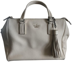 Kate Spade Kingston Drive Small Alena Pebbled Leather Shoulder Satchel in Bleach Bone