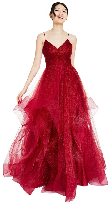 Item - Ruby Glamour By Glitter Tulle Ball Gown Long Formal Dress Size 12 (L)