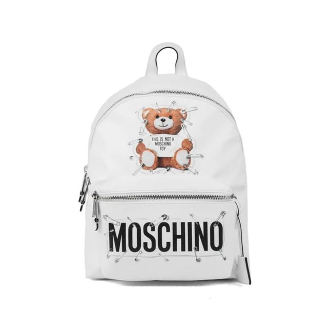 Item - White Leather Backpack