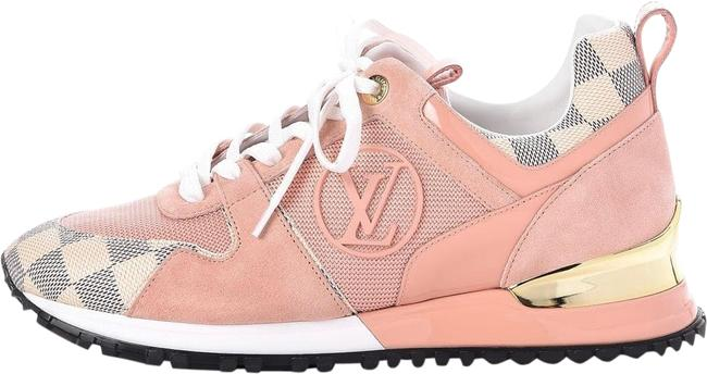 Item - Damier Azur/Pink Run Away Sneakers Size US 6 Regular (M, B)