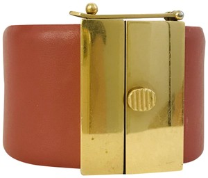 Céline Celine leather cuff bracelet
