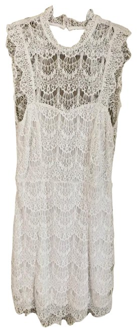 Item - White Lace Short Night Out Dress Size 4 (S)