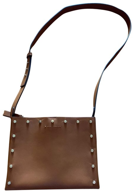 Item - Brown Faux Leather Cross Body Bag