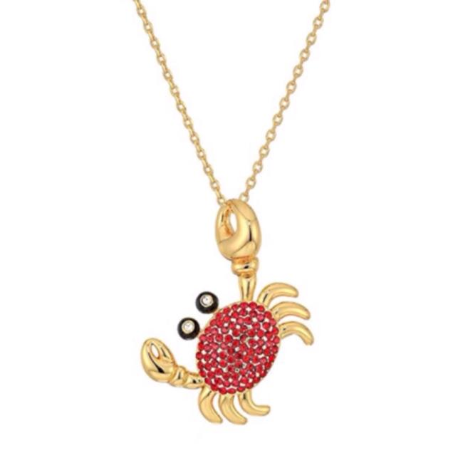 Item - Red/Gold Shore Thing Crab Necklace