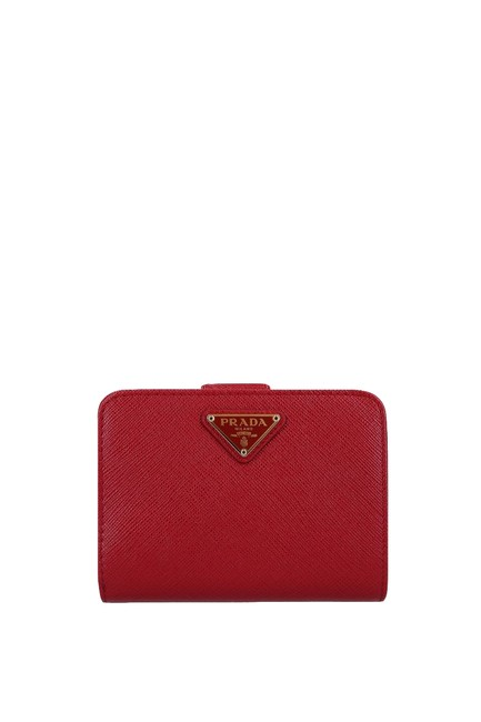 Item - Red Saffiano Leather Bifold Wallet