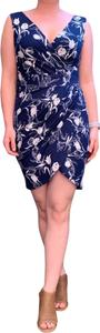 DNA Couture short dress blue and white on Tradesy