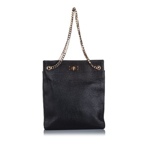 Givenchy Ff0gvto001 Vintage Leather Tote in Black