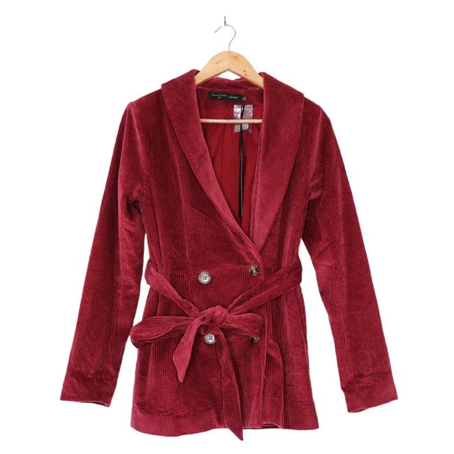House of Harlow 1960 Berry Red X Revolve Lykke Belted Blazer Size 2 (XS) House of Harlow 1960 Berry Red X Revolve Lykke Belted Blazer Size 2 (XS) Image 5