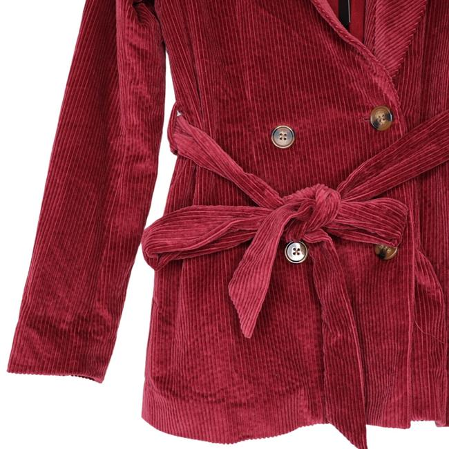 House of Harlow 1960 Berry Red X Revolve Lykke Belted Blazer Size 2 (XS) House of Harlow 1960 Berry Red X Revolve Lykke Belted Blazer Size 2 (XS) Image 7