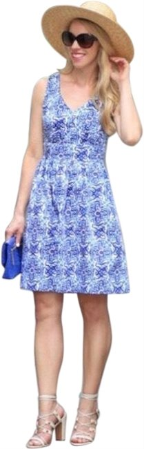 Item - Blue and White Short Casual Dress Size 4 (S)
