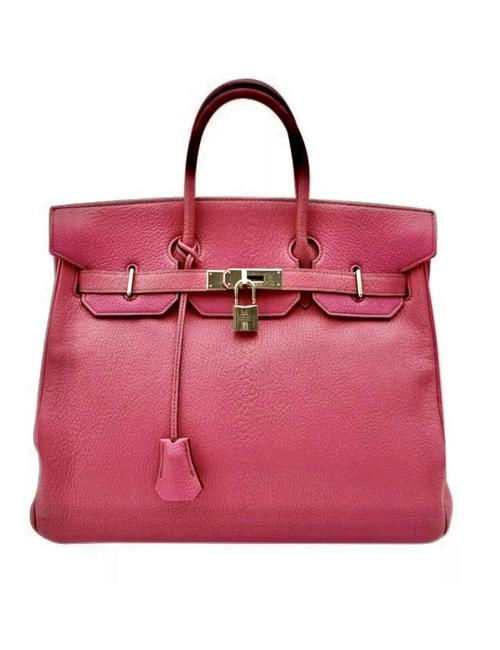 Item - Birkin 35 Cm Chevre Palladium Pristine Hot Pink Fuchsia Silver Goat Skin Leather Tote