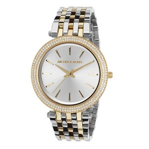 Michael Kors Michael Kors Women's DARCI SILVER GOLD CRYSTALS MK 3215 WATCH