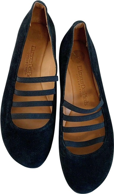 Black Caiden Suede Flats Size US 7.5 Regular (M, B) Black Caiden Suede Flats Size US 7.5 Regular (M, B) Image 1