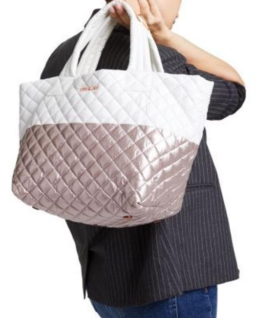 Item - Small Metro Quilted Glacier/Rose Gold Nylon Tote