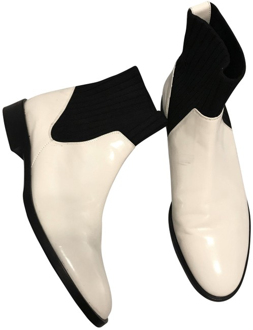 Item - White/Cream Perlow Sock Ankle Boots/Booties Size US 8 Regular (M, B)