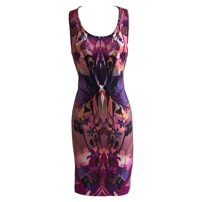 Item - Pink 2010 Orchid Digital Print Mid-length Short Casual Dress Size 6 (S)