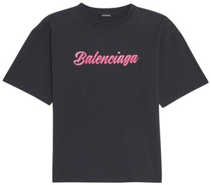 Item - Black Pink Glossy Regular Fit T-shirt Mens Unisex Tee Shirt