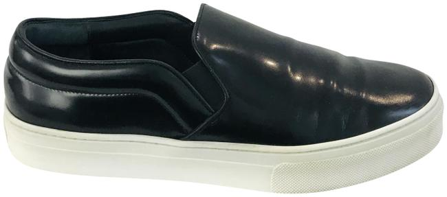 Item - Black Glossy Leather Slip-on Sneakers Size EU 39 (Approx. US 9) Regular (M, B)