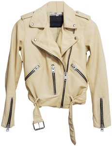 AllSaints Yellow Leather Jacket