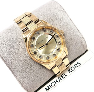 Michael Kors Colette Three-Hand Gold-Tone Stainless Steel Watch MK6601