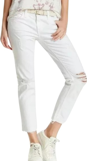 Item - White Salty Destroy The Cropped Straight Leg Jeans Size 24 (0, XS)