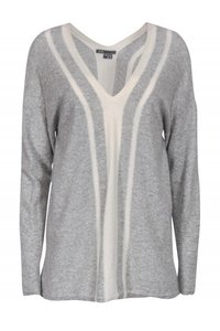 Vince Grey Cream Slouchy Sweater