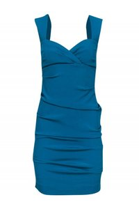 Nicole Miller Teal Ruched Dress