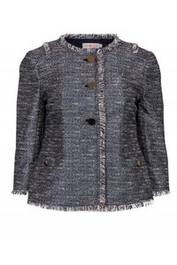 Tory Burch Blue Grey Metallic Jacket