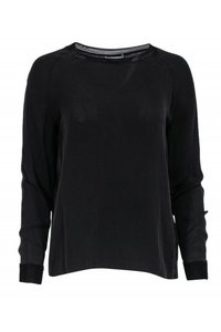 Vince Shirts Sheer Silk Top Black
