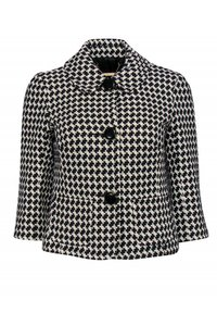 Trina Turk Black White Printed Jacket