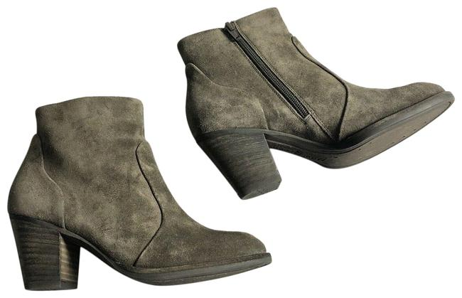 Item - Brown Taupe Suede Heeled Ankle Boots/Booties Size EU 36 (Approx. US 6) Regular (M, B)