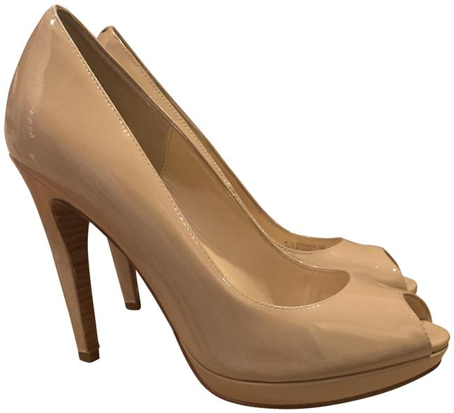 Item - Nude Patent Leather Chelsea High Pumps Size US 9 Regular (M, B)