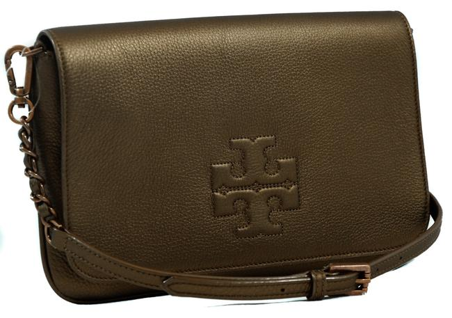 Item - Clutch Thea New Foldover Brown Leather Cross Body Bag