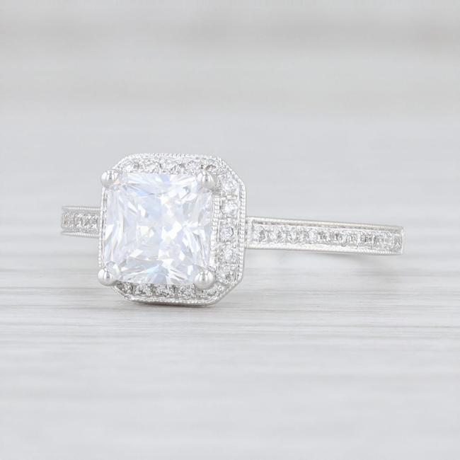 Item - White Gold New Semi Mount Diamond Halo 14k Size 6.5 Engagement Ring