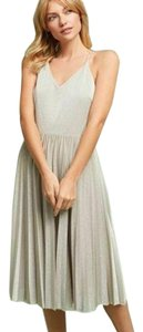 Elevenses short dress New Silver Fit And Flare Metallic Adjustable Strap on Tradesy