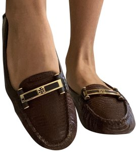 Tory Burch Brown Leather Flats