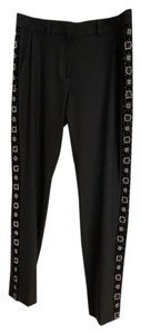 The Kooples Straight Pants Black with black and white beading