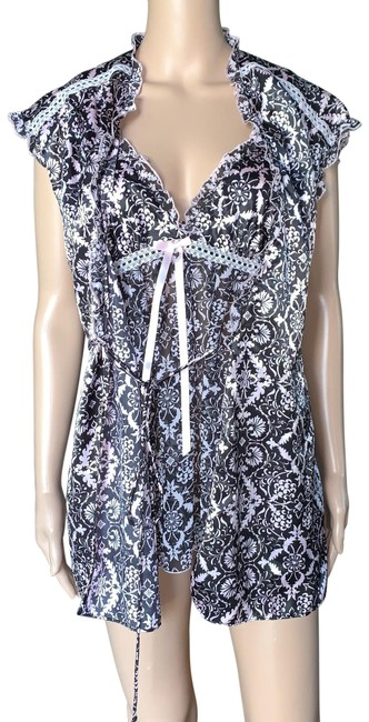 Item - Floral 2 Piece Babydoll & Rob Lingerie Mid-length Night Out Dress Size 10 (M)