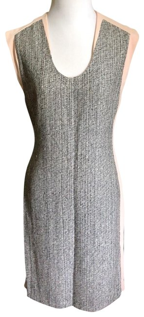 Item - Light Pink and Black Mid-length Work/Office Dress Size 6 (S)