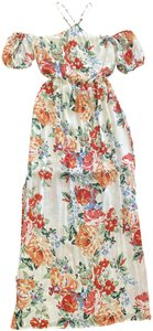 White Floral Maxi Dress by Charles Henry Maxi Print Small