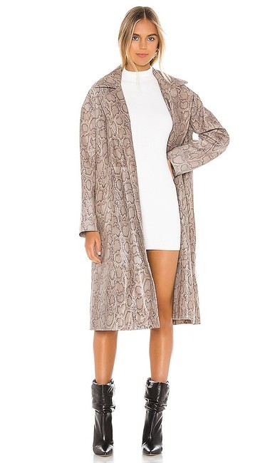 Item - Frost Gray Walk This Way Duster Snakeskin Coat Jacket Size 4 (S)