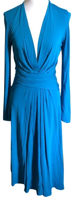 Item - Turquoise Long Cocktail Dress Size 6 (S)