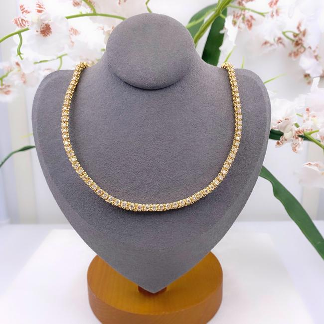 Item - Yellow Gold Round Brilliant 5.50 Tcw In 18kt Necklace